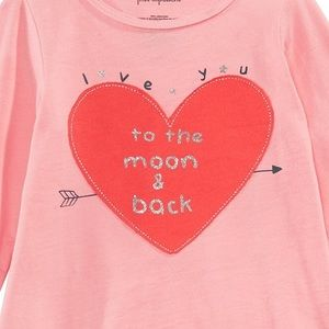 """First Impressions Shirts & Tops - NWT New Impressions Pink/Red """"I ❤️ you"""" Top 18mo"""